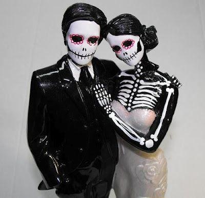 Skeleton skull wedding cake toppers | Wedding | Pinterest | Skull ...