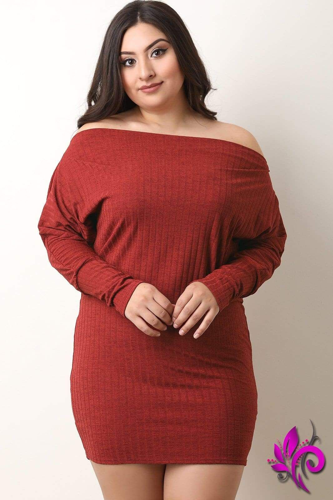 6eb6b80e699 Off The Shoulder Dolman Sleeve Bodycon Dress   Products in 2019 ...