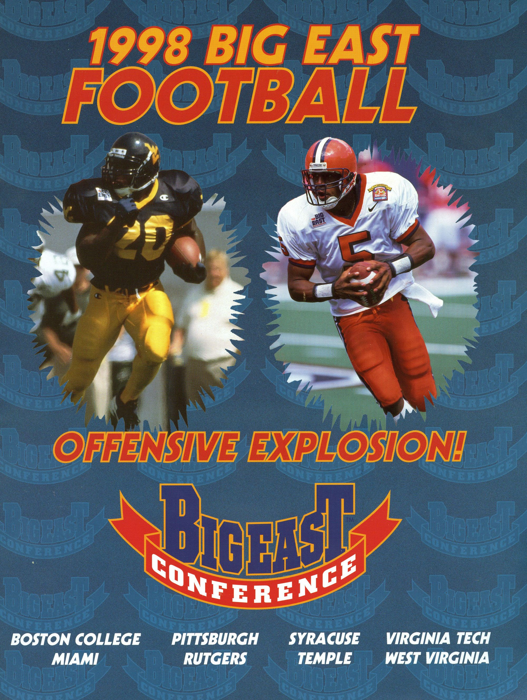1998 BIG EAST Football Media Guide Cover bemediaday