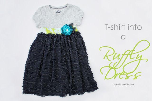 Re-Purposing: T-shirt into Ruffly Dress | Make It and Love It