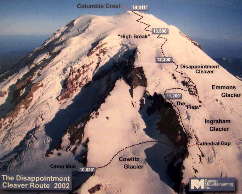 Image result for rainier summit maps and mountains Pinterest