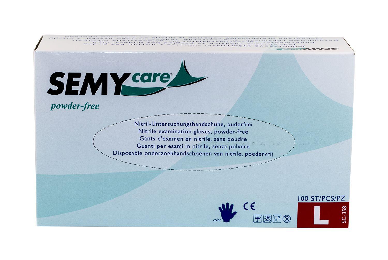Einweg Nitril Untersuchungshandschuhe Semy Care 100 Stk
