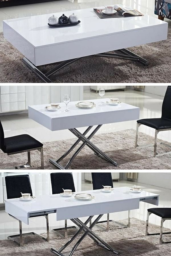 11 Tables Basses Relevables Pour Optimiser L Espace Du Salon Table Basse Transformable Table Basse Relevable Table Basse