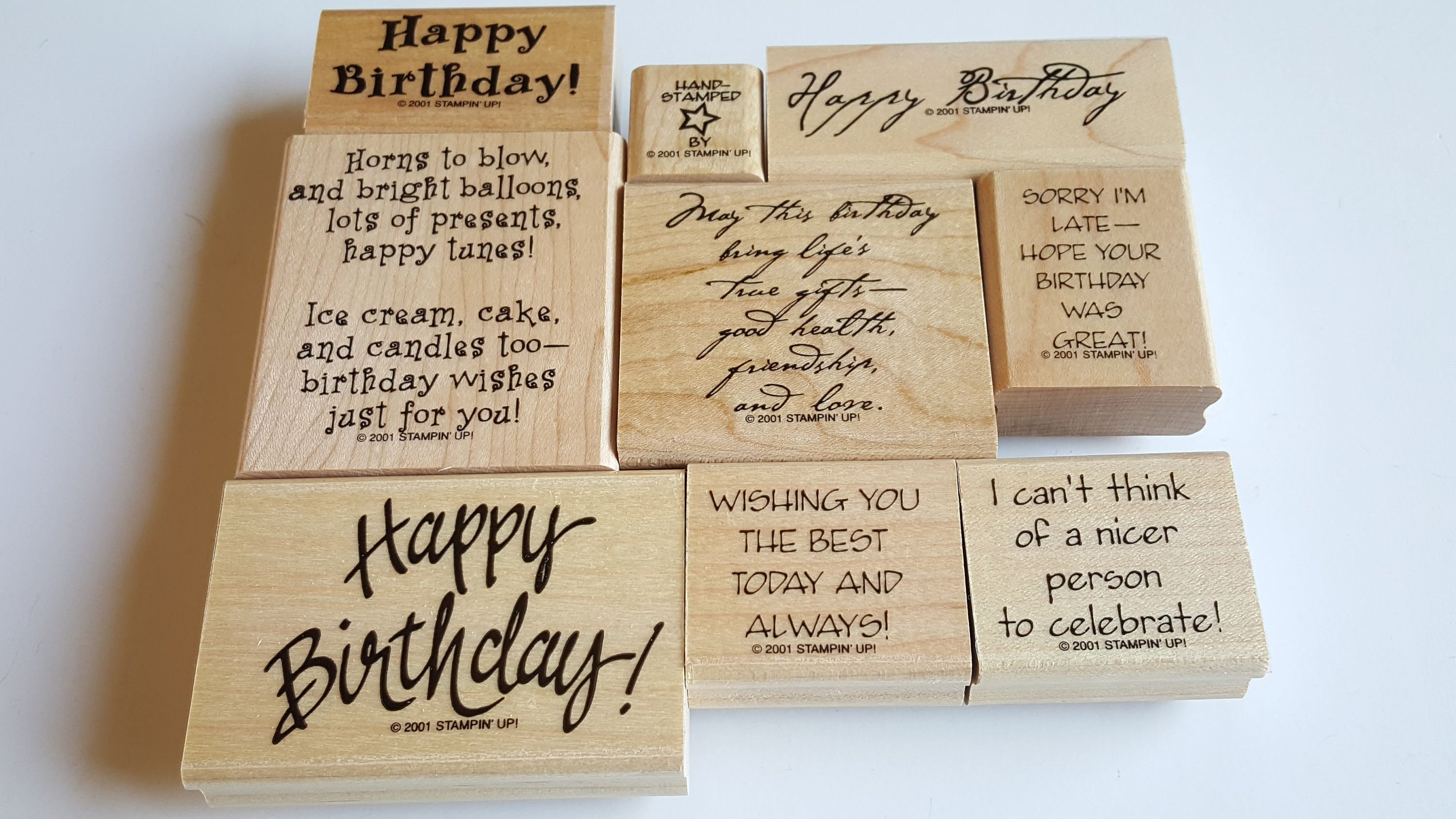 Be Merry Rubber Stamp retired from Stampin Up