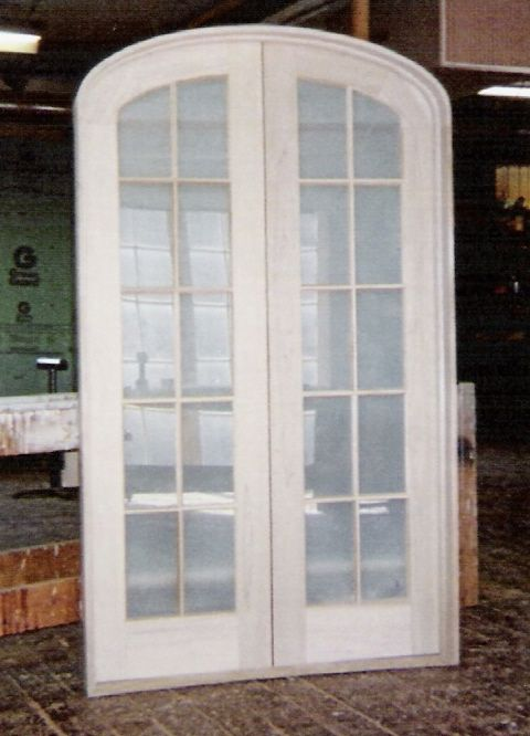Custom Built Wood French Doors; Interior; Exterior ; Arch Top (like The  Shape