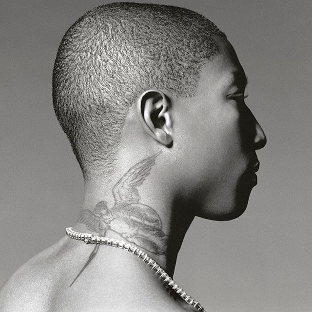 Websta Ysl One I Never Thought I Would But I M Now Thinking About Getting My Neck Tattooed Still Indecisive About T Neck Tattoo Pharrell Williams Pharrell