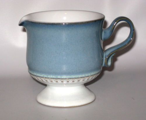 Denby Castile Small Footed Creamer Pitcher Blue White Stoneware England | eBay & Denby Castile Small Footed Creamer Pitcher Blue White Stoneware ...