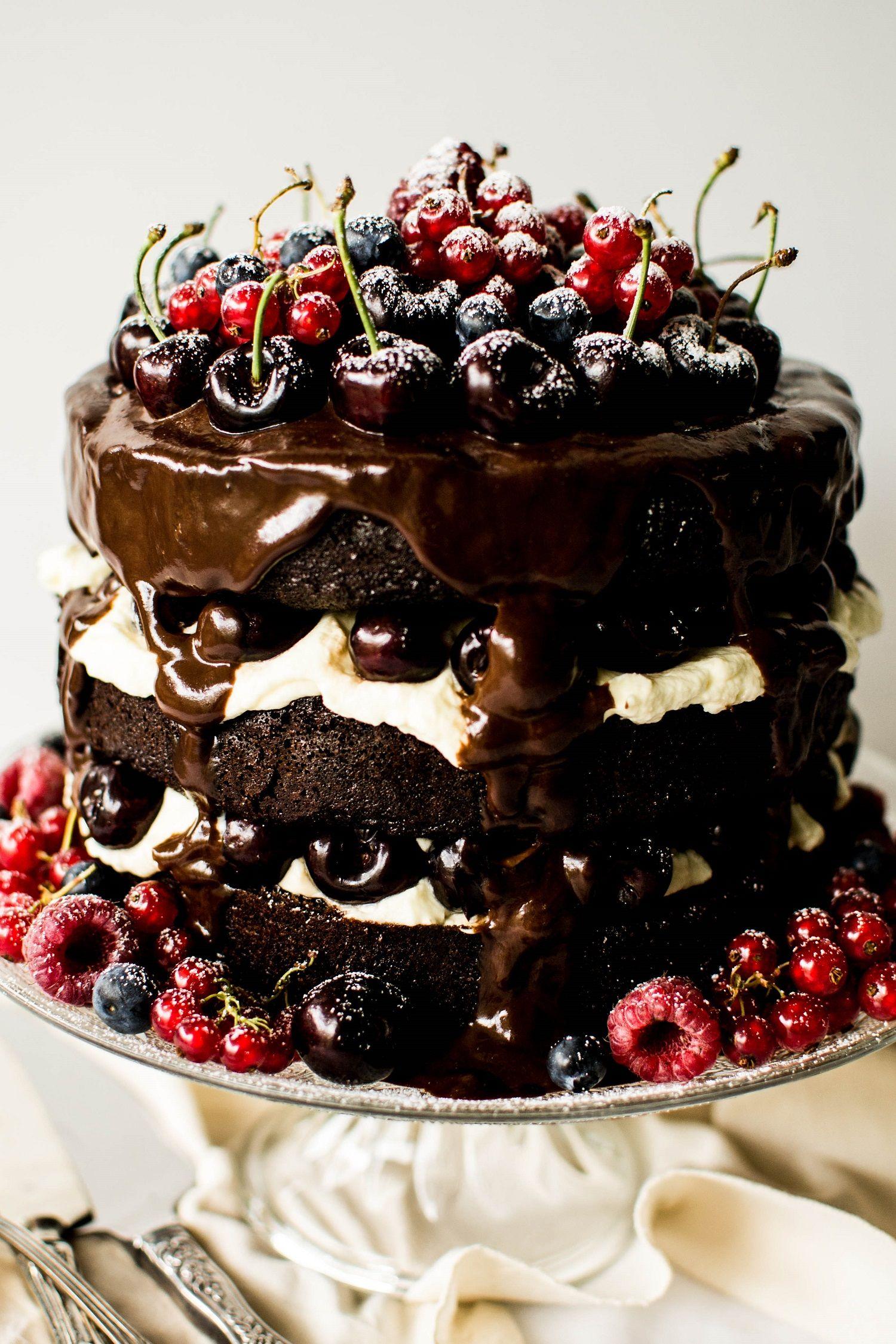 Black Forest Gateau Recipe Bon Apptit Pinterest Cake