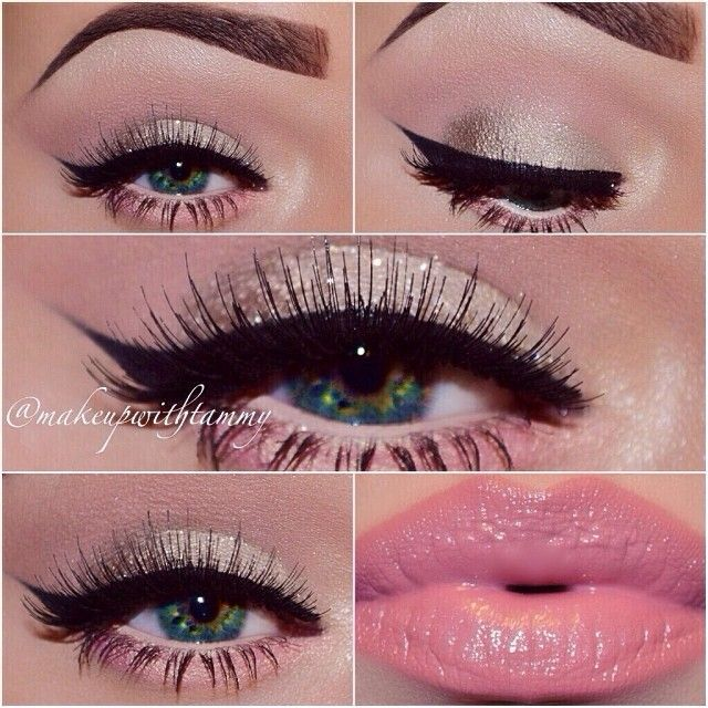 ♥♥. LOVE the eyeliner and lipstick. Wouldn't go THIS hard on the eyebrows cause it looks a bit fake