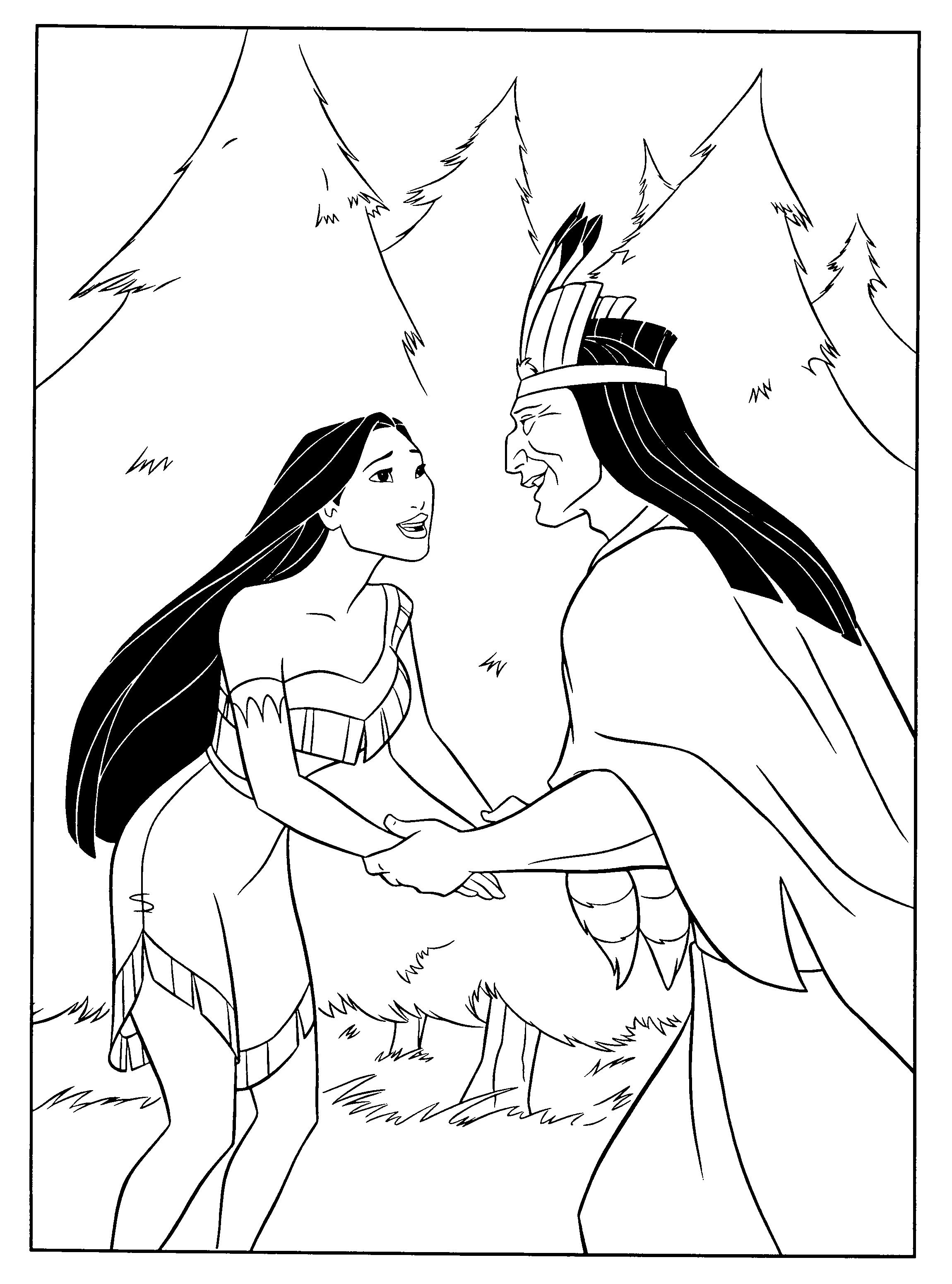 Pocahontas coloring pages googlesøgning disney princess