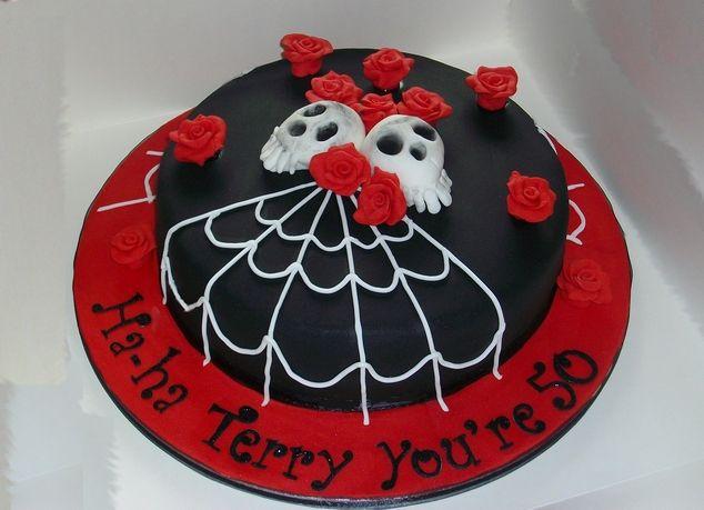 Gothic Birthday Cake From Elite Cakes Goth Dark Cakes Cookies - Birthday cakes solihull