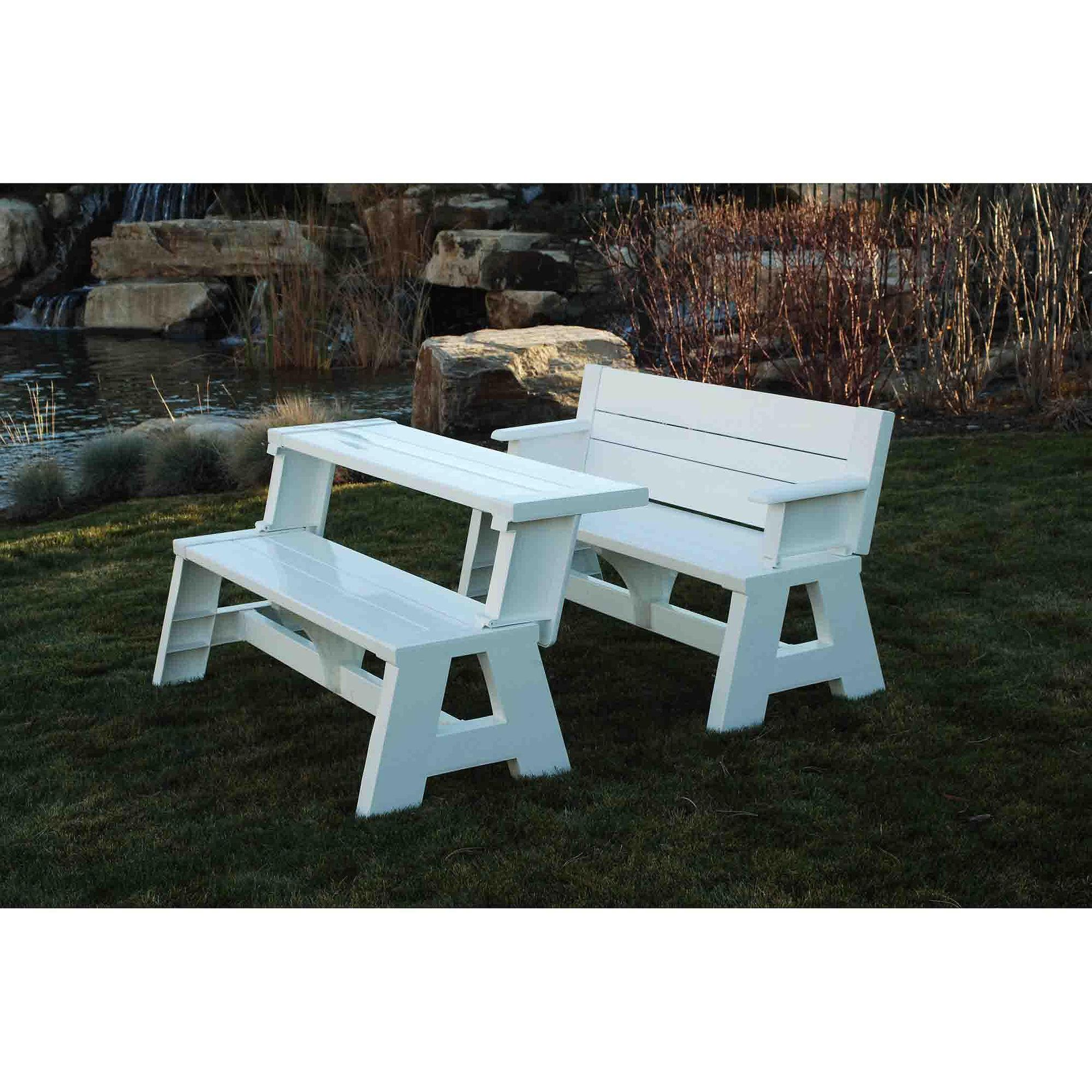 Convert A Bench Walmart Com Convert A Bench Picnic Table Bench Picnic Table