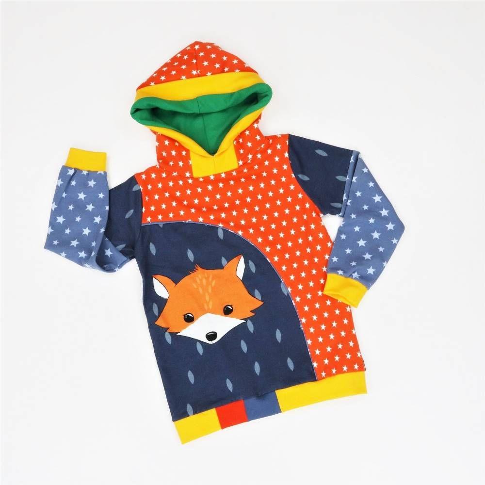 Kapuzenpulli 104 Hoodie Jungs Sweatshirt Fuchs Pullover