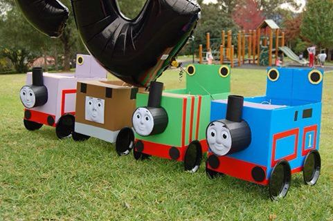 Thomas the tank engine costume. Cardboard box trains. Thomas the tank engine…