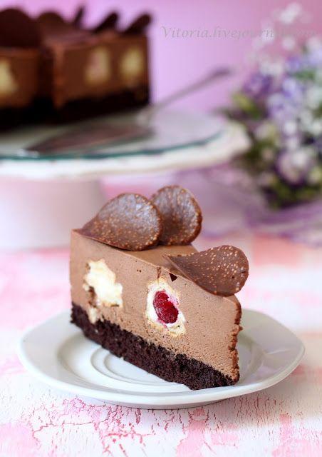 "Торт ""Шоколадно ванильный"" | Backrezepte, Backen, Tortendeko"