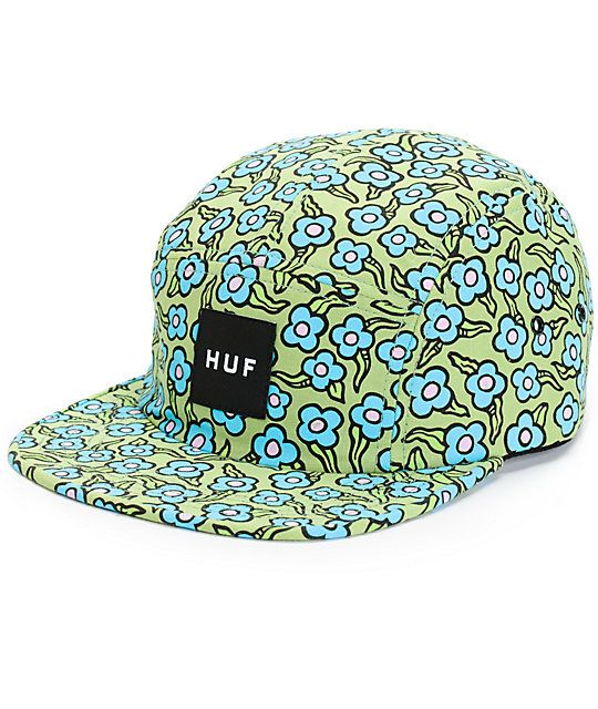 709990db443c4 HUF x Krooked Flowers Tarragon 5 Panel Hat