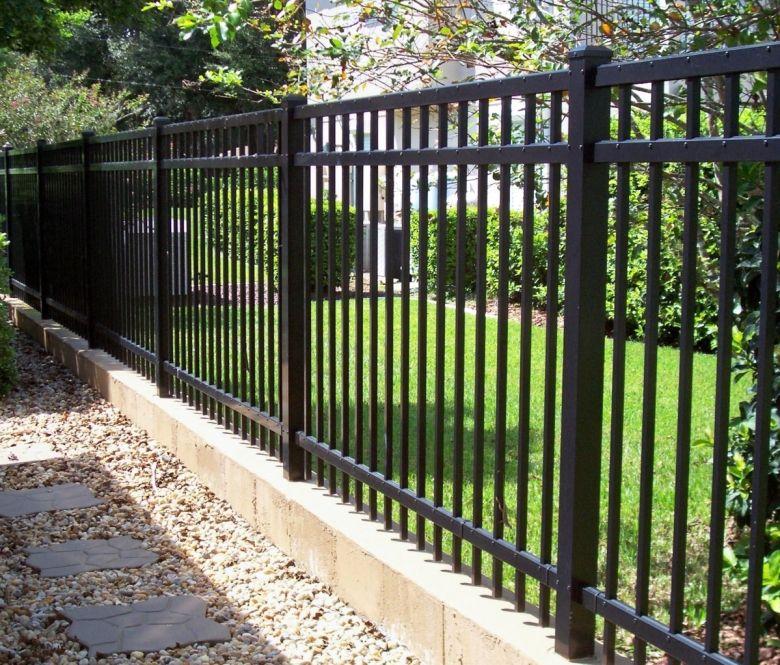 Custom Aluminum Fencing By Mossy Oak Fence Backyard Fences Aluminum Fence Gate Aluminum Fence