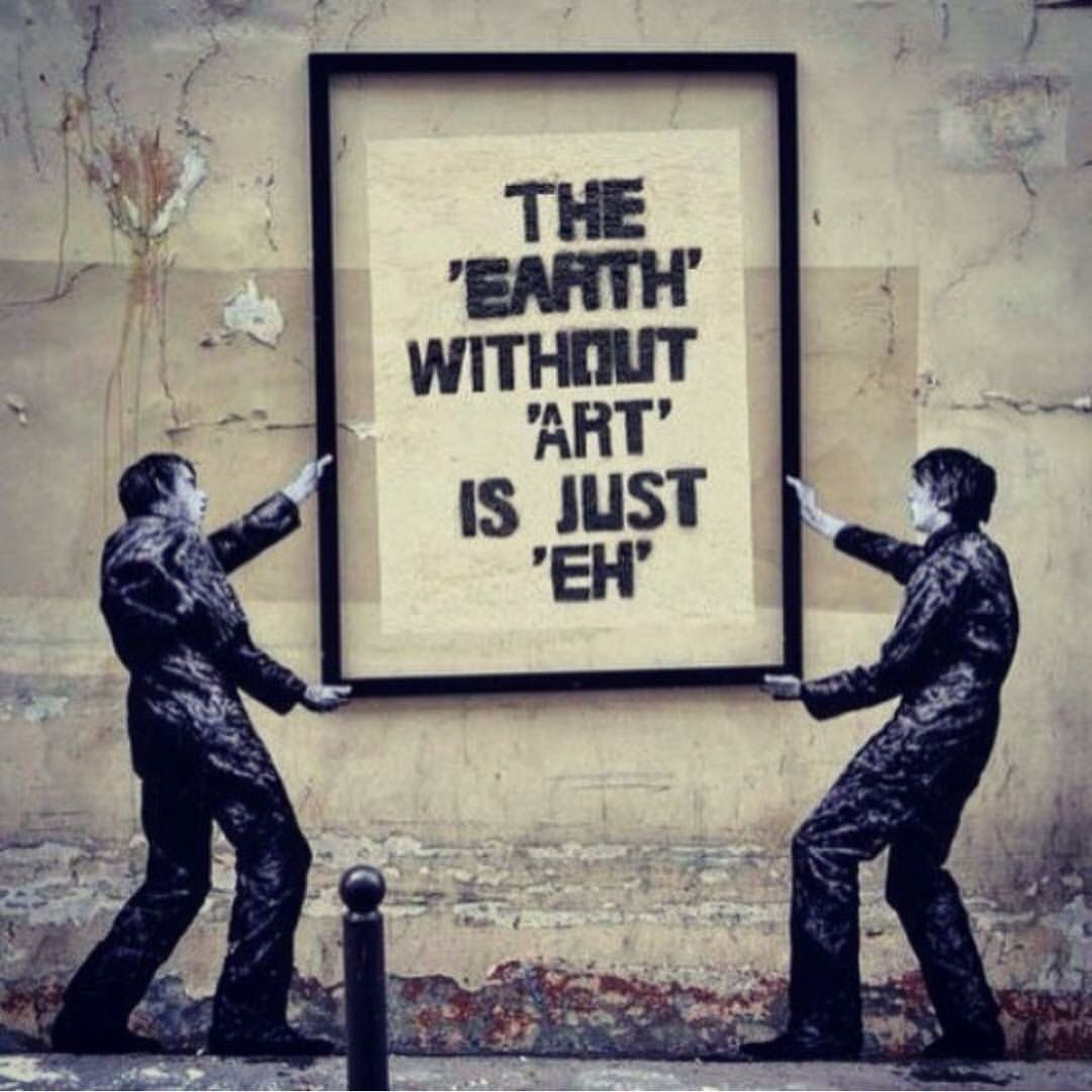 Grafitti art quote - Street Art