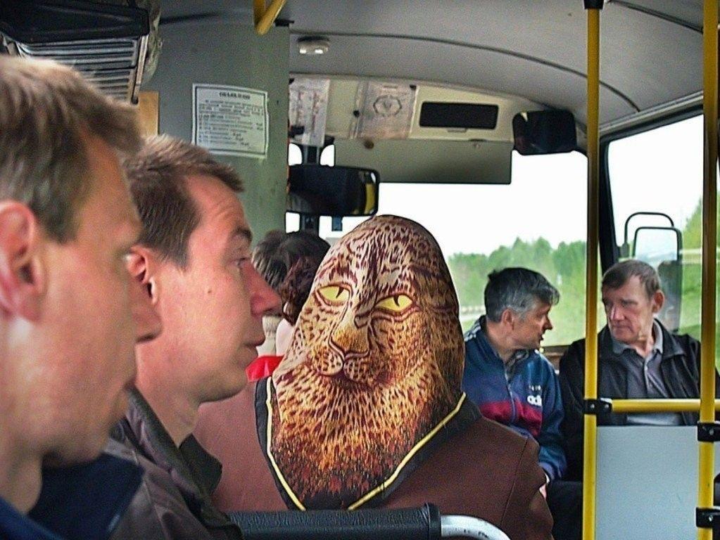 Классный платок! Мужики в автобусе протрезвели! Люди икс