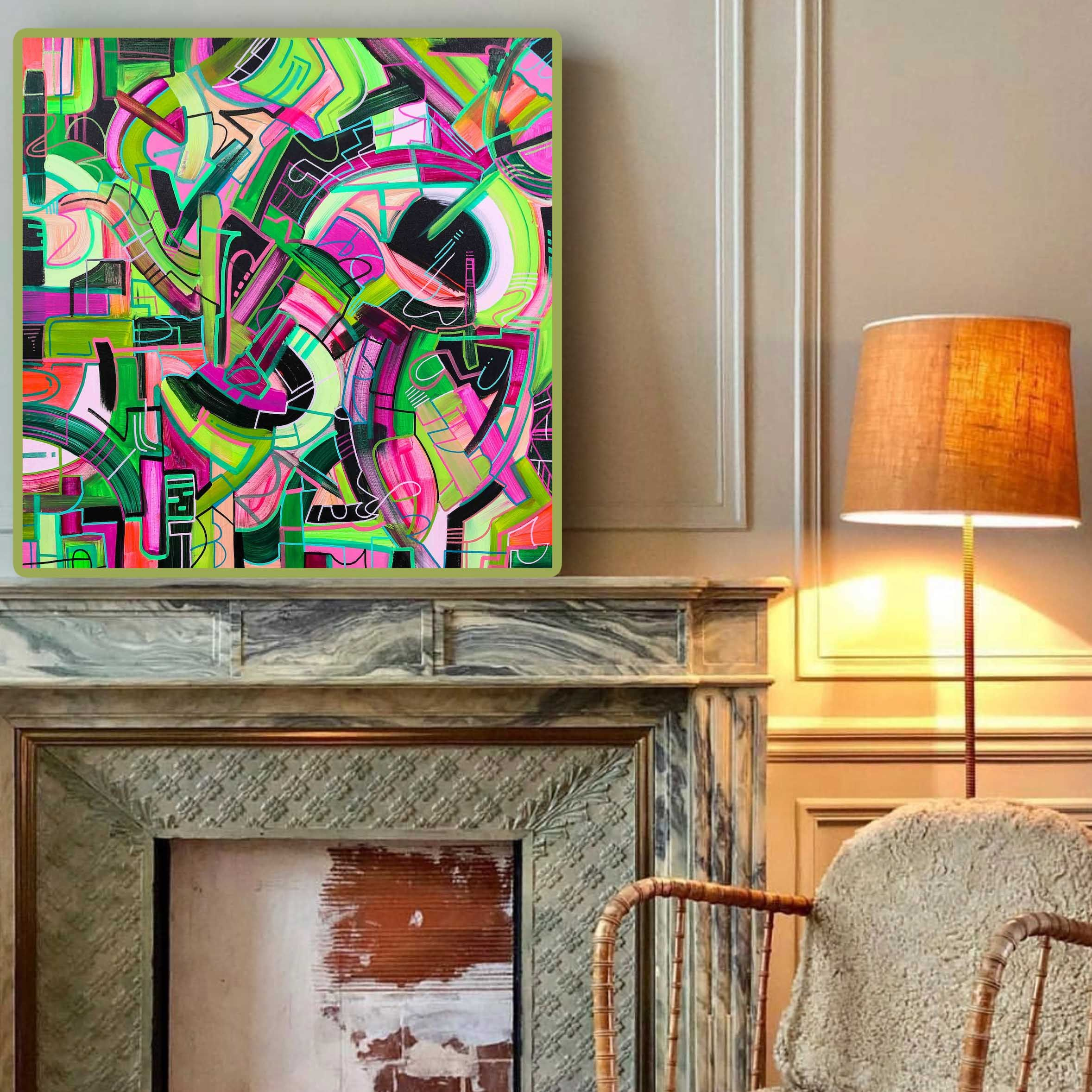 Living Room Art Colorful Wall Art Puzzle Art Living Room Art