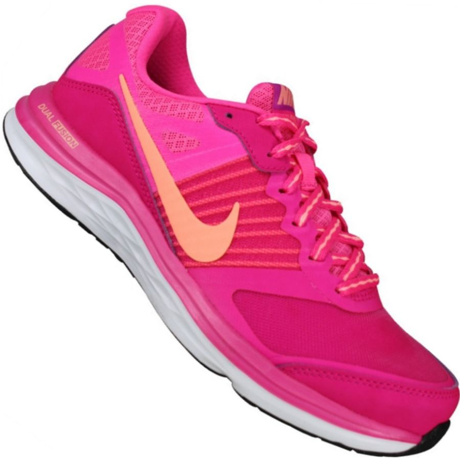 b5c9c0d91eb650 Tênis Nike Dual Fusion X MSL Feminino Rosa Choque | Nike✓ | Tênis ...