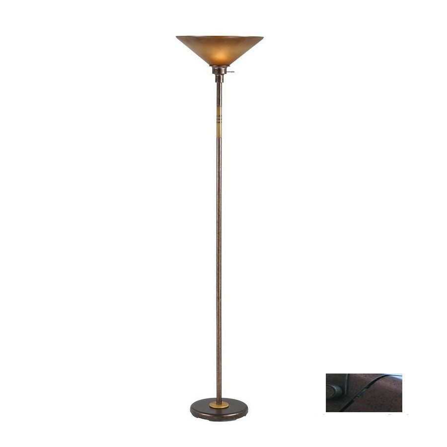 Floor Lamps At Lowes Magnificent Shop Cal Lighting 70In 3Way Switch Rust Torchiere Indoor Floor Design Ideas