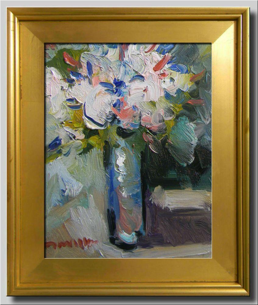 JOSE TRUJILLO FRAMED Oil Painting IMPRESSIONIST WHITE