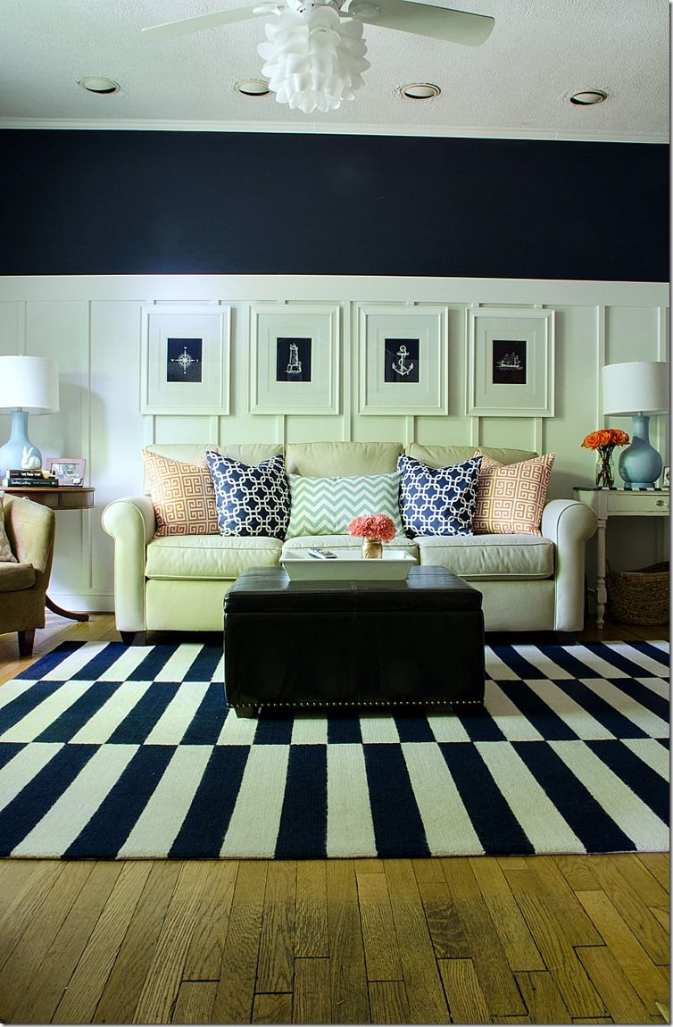 27 Navy Living Room Design Ideas Wall colors Living rooms and Room