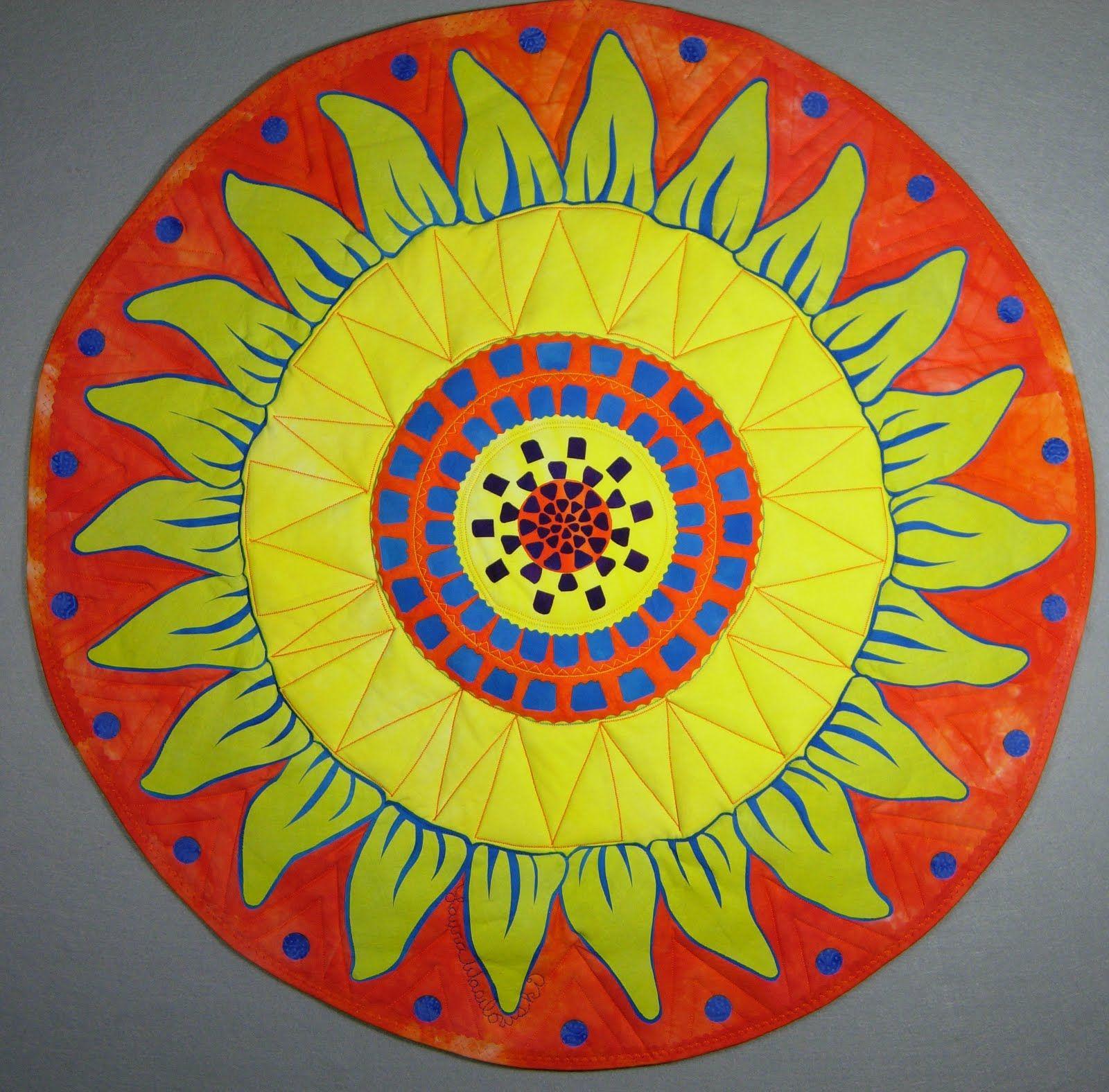 Quilt by Laura Wasilowski for Fairfield World