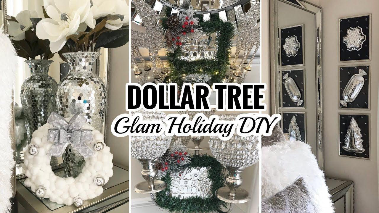 Diy Christmas Decor Ideas Dollar Tree Diy Mirror Decor Youtube Dollar Tree Christmas Decor Dollar Tree Christmas Glam Christmas Decor