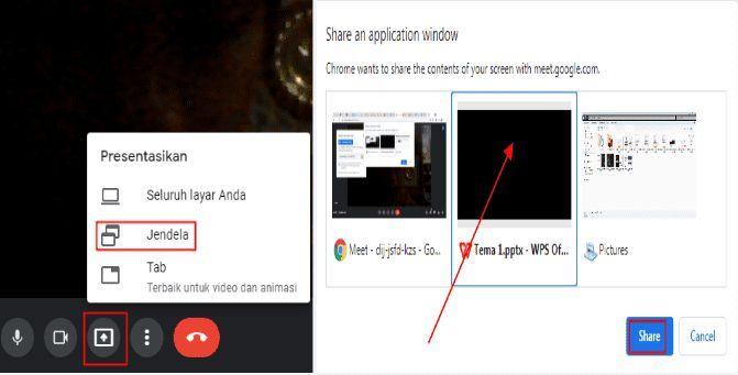 Cara Menampilkan PPT Di Google Meet Lewat Laptop