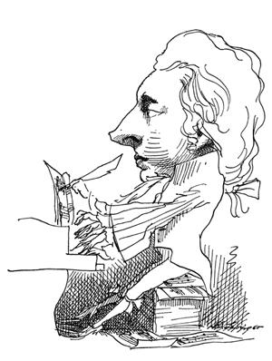 Amadeus W Mozart Caricature Celebrity Caricatures
