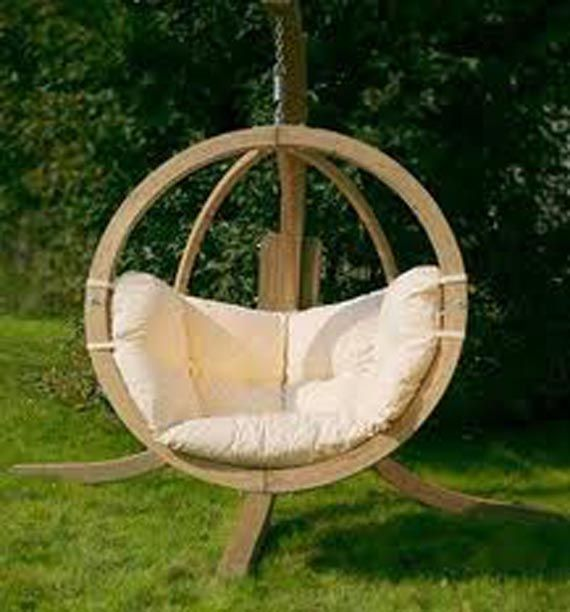Wooden Outdoor Swings Unique And Unusual Wooden Garden Swing
