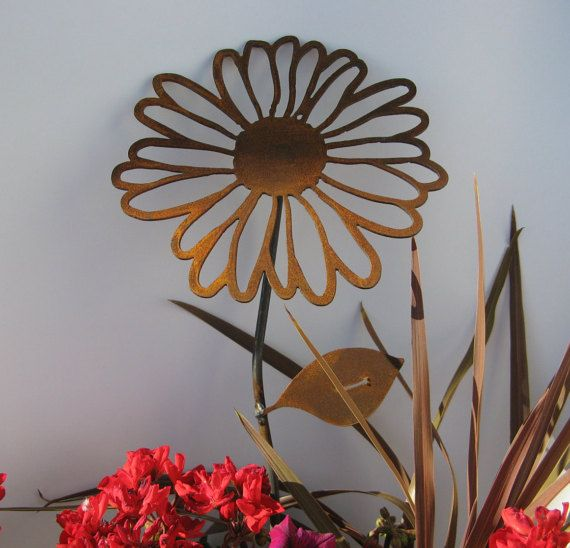 Rusty Daisies FREE SHIPPING On Metal Garden Stake By 81MetalArt