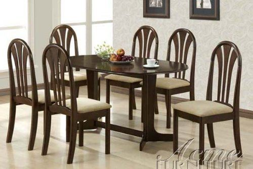 7Pc Dining Table Chairs Set In Espresso Finish  Visit The Image Entrancing Espresso Dining Room Table Sets Design Ideas