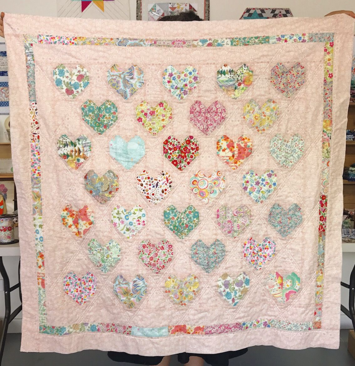 Free Tutorial - The Strawberry Thief - Love Liberty Quilt - Fabric ... : liberty quilting fabric - Adamdwight.com
