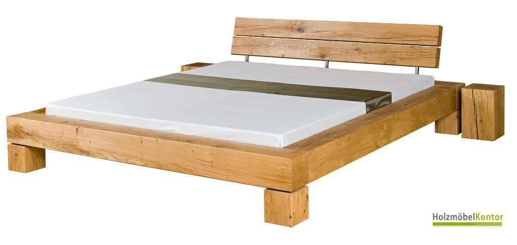 balkenbett eiche massiv tolle optik das balkenbett rh n von. Black Bedroom Furniture Sets. Home Design Ideas