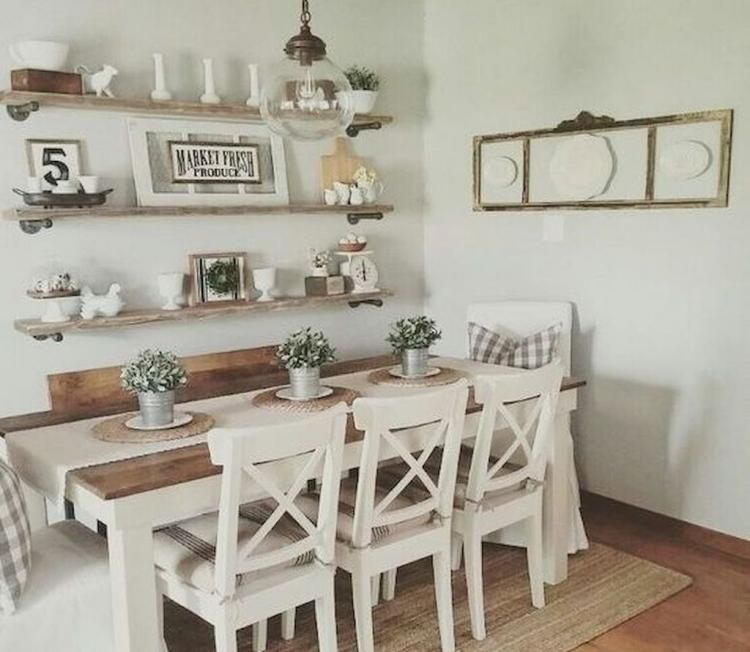 30+ The Top Dinning Room Ideas With Natural Farmhouse Style