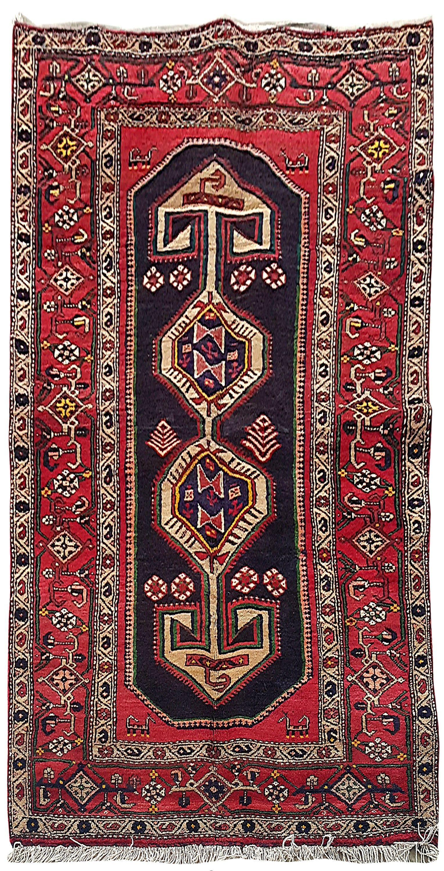 Handmade Rug 4 X 8 Persian Hamadan Made Of Wool Rugs For