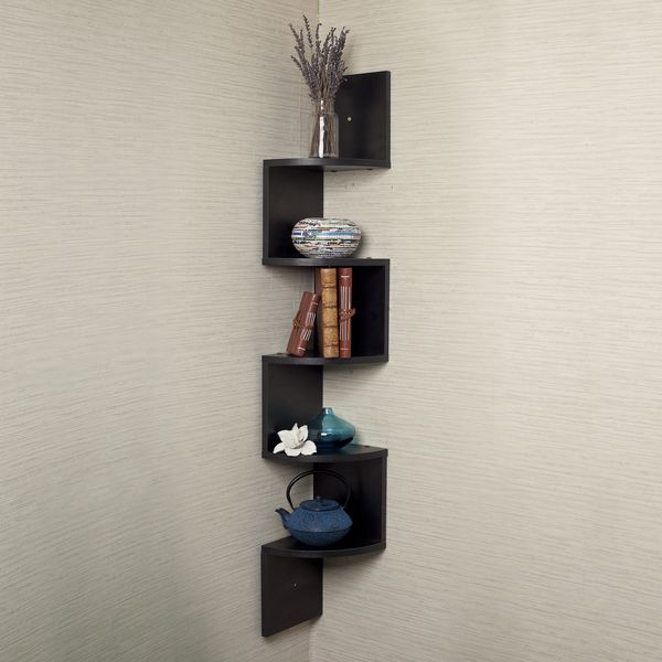 Black Laminate Large Corner Wall Mount Shelf Ping Great Deals On Danya B Accent Pieces