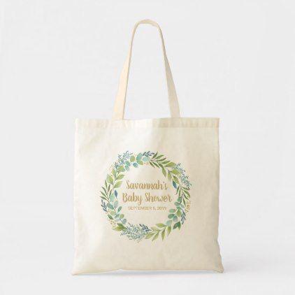 Photo of Green Foliage Wreath Tote Bag   Zazzle.com
