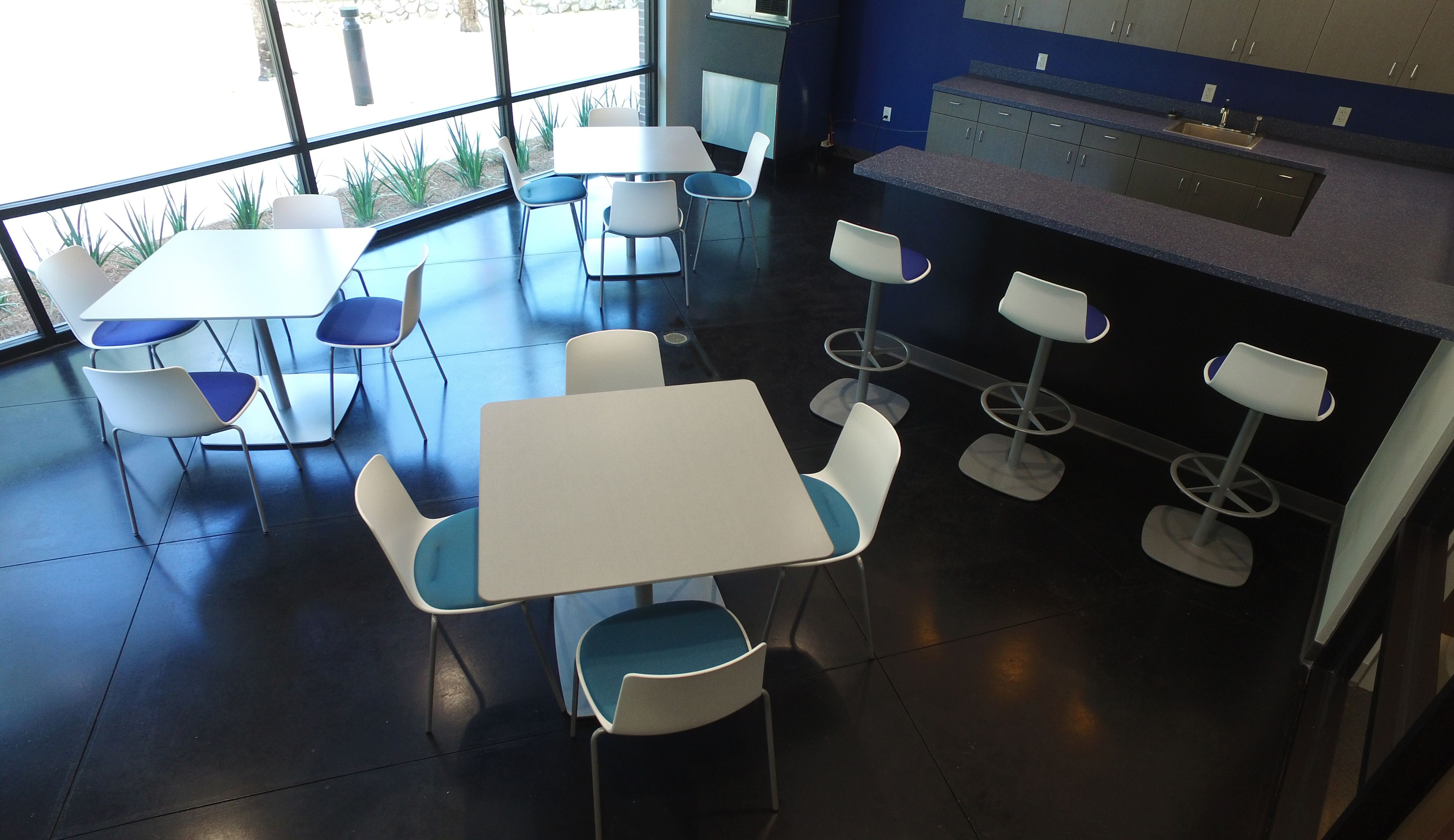 Steelcase Work Cafe With Blue Accents Need We Say More