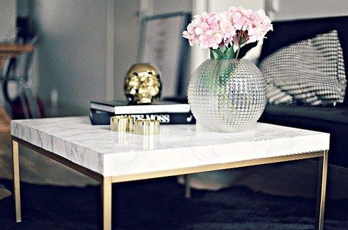 I Tried 5 Ikea Hacks To See How Cheap And Easy They Really Are Diy Marble Table Ikea Hack Ikea Lack Side Table