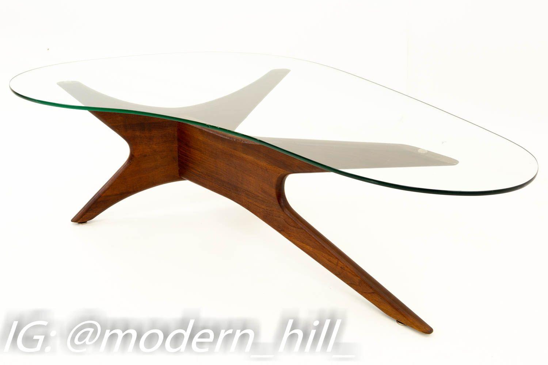 Adrian Pearsall Mid Century Sculptural Kidney Shaped Walnut Coffee Table Modern Glass Coffee Table Mid Century Modern Coffee Table Coffee Table [ 1000 x 1500 Pixel ]
