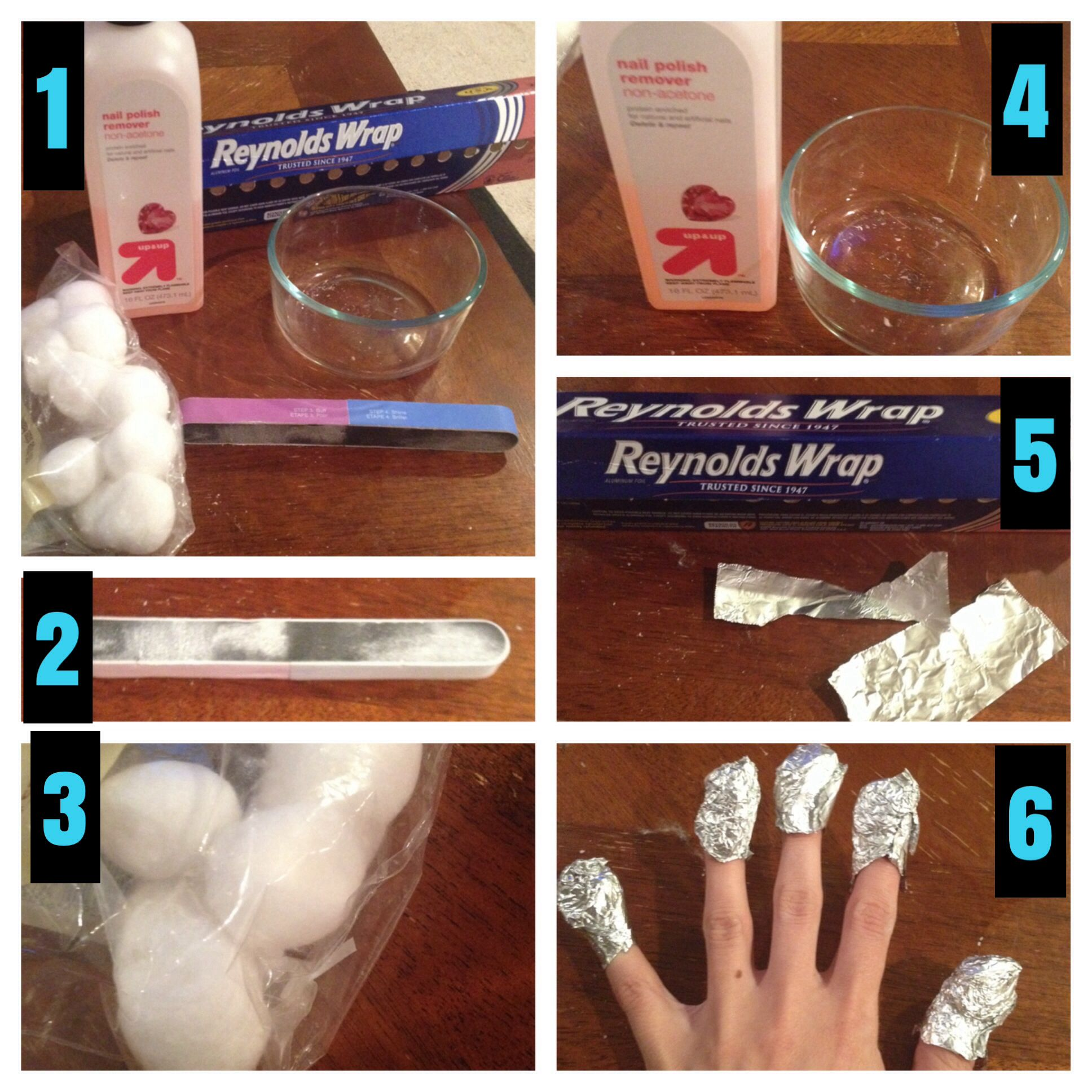 How to get off Gel nail polish with non-acetone remover: step 1 ...