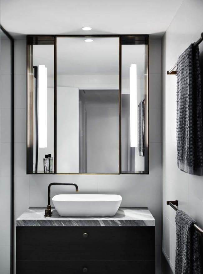 renovation the overhaul of an art loving empty nester s on bathroom renovation ideas melbourne id=68013