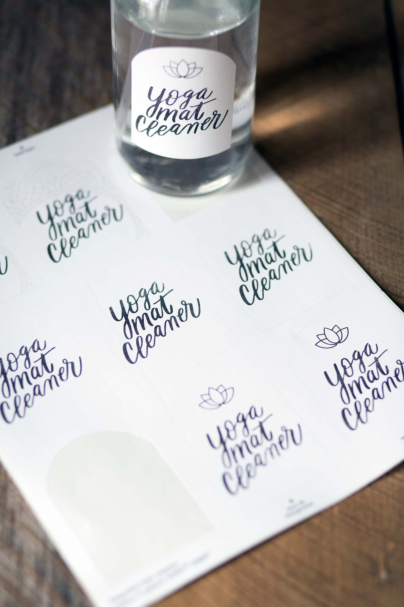 Homemade Yoga Mat Cleaner + Free Printable Labels