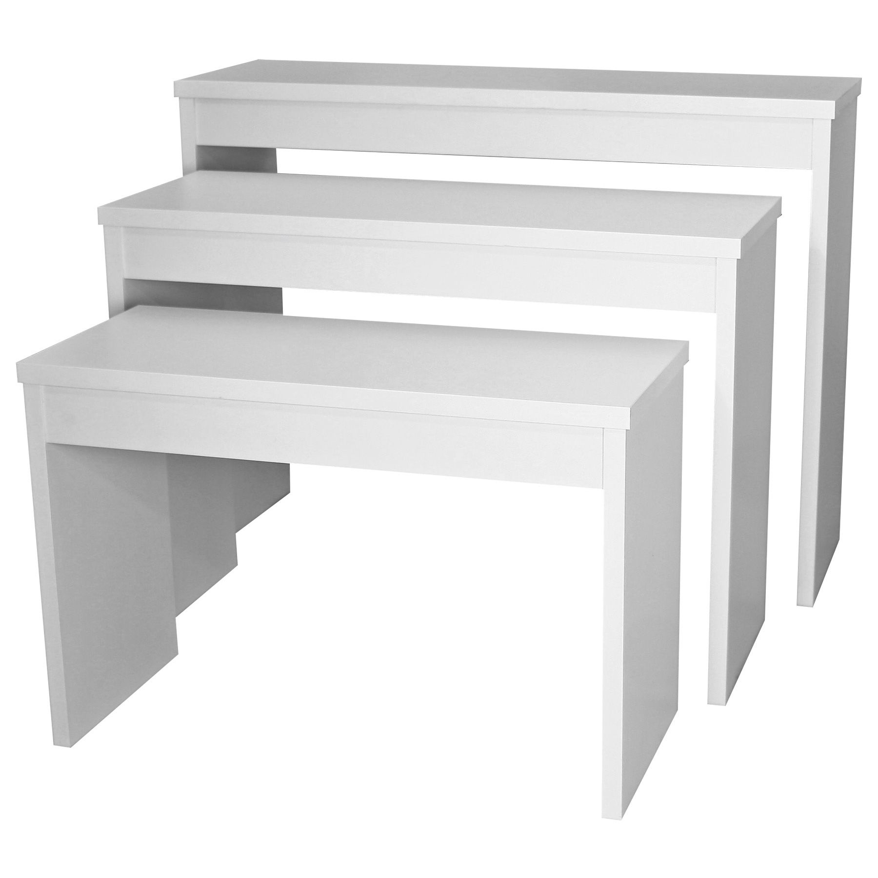 This Set Of Three Zada Stacking Nesting Tables Is Perfect For Anywhere In Your Salon Where You Need Some Extra Storage Or Retail Display Options