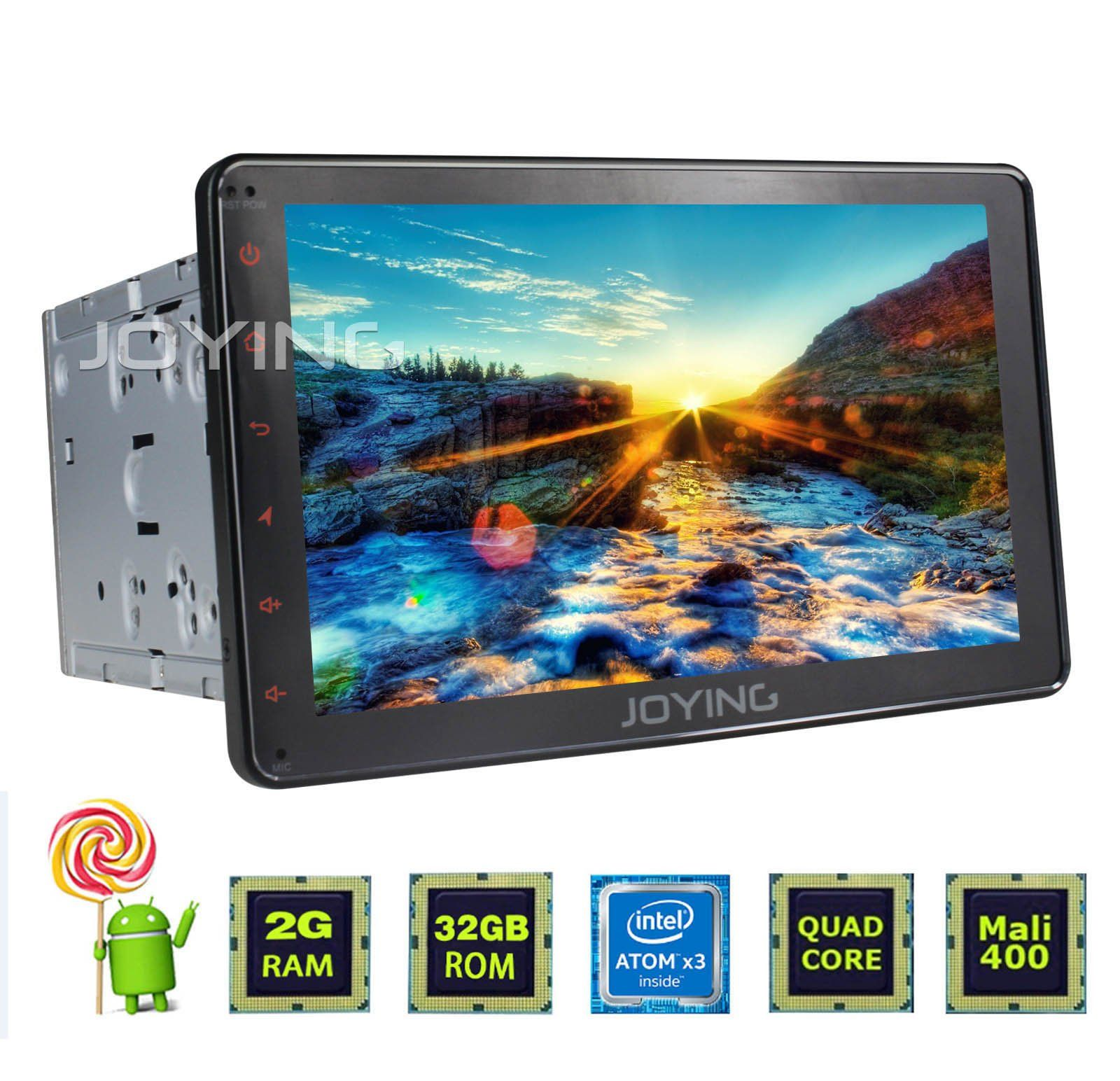 hight resolution of joying 8 inch android head unit double din touch screen car stereo 2gb ram intel quad core android 5 1 in dash navigation auto gps car radio audio receiver