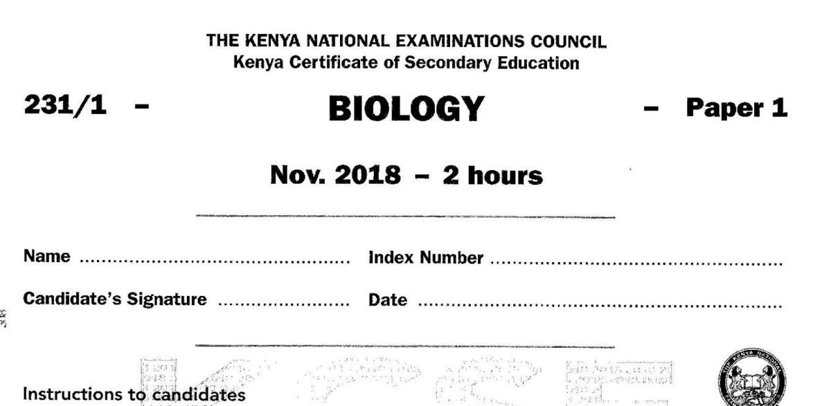 Knec kcse 2018 agriculture paper 1 2 combined with answers